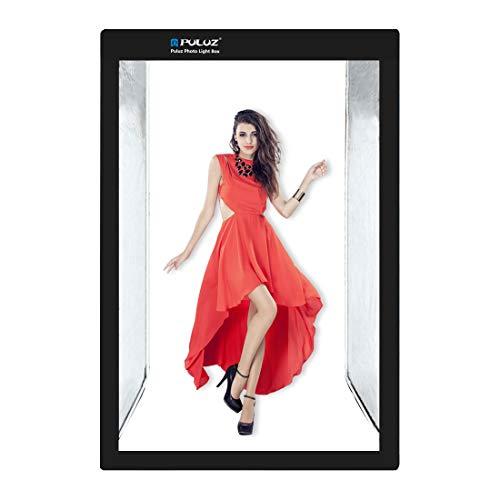 PULUZ Foto Studio Leuchtkasten Tragbar 200 X 120 X 80cm Lichtzelt LED 5500K Mini 240W Fotografie Studio Zelt-Set mit 1 abnehmbaren weißen Hintergrund EU-Stecker