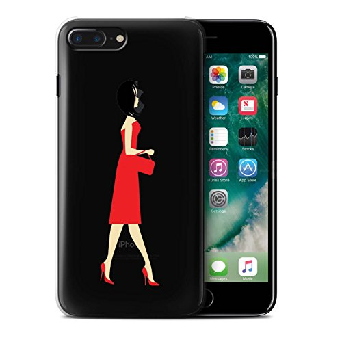 Coque de Stuff4 / Coque pour Apple iPhone 7 Plus / Verre Champagne Design / Insolent/Impertinent Collection Écarlate