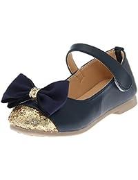 V-SOL Shoes Zapatos Zapatillas De Vestir Para Niña Con Lazo