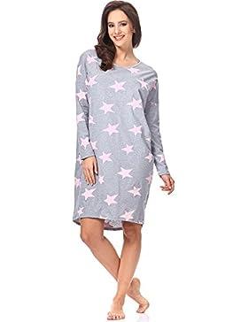 Italian Fashion IF Camicia da Notte per Donna Star 0115