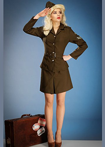 Armee-Mädchen-Kostüm-Uniform XL (UK 20-22) (Armee Mädchen Fancy Dress Kostüme Uk)