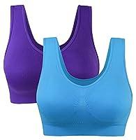 2 Pack Yoga Sports Sleep Bra for Women Wirefree Size 6-22