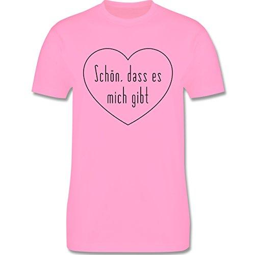 Statement Shirts - Schön, dass es mich gibt - Herren Premium T-Shirt Rosa