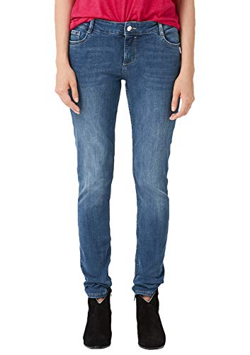 s.Oliver Damen 04.899.71.5033 Skinny Jeans, Blau (Blue Stretch H.Stone Wash 55z6), W34 (Herstellergröße: 44/30)