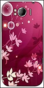 Snoogg Flower Pink Graphic Designer Protective Back Case Cover For HTC Sensation Xl