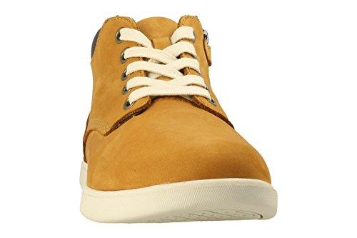 Timberland Groveton_Groveton Leather Chukka, Unisex-Kinder Sneakers, Braun (Wheat Nubuck), 40 EU