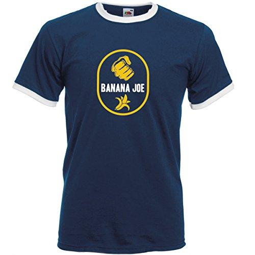 Banana Joe Original Premium Soccer Kontrast T-Shirt #2 Navyblau/Weiss