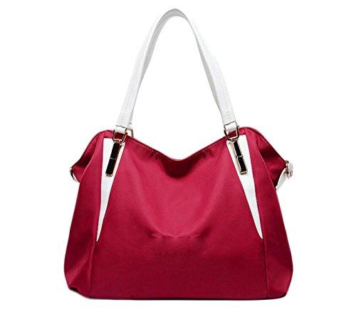 Nylon Spalla Delle Donne Del Sacchetto Di Mano Tote Bag Red