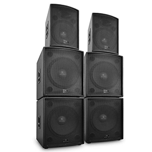 Malone DJ PA Aktiv Boxen SetPhidias6 Teile 12000W