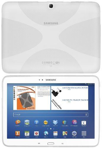 mumbi X-TPU Schutzhülle Samsung Galaxy Tab 3 (10,1 Zoll) Hülle transparent weiss