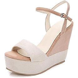 GJDE Pattini casuali delle scarpe da donna dei sandali delle signore delle donne di estate , 34 , c