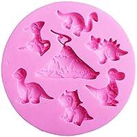 Molde de Silicona para Jabón Hecho a Mano Forma de Dinosaurio Diseño de Color