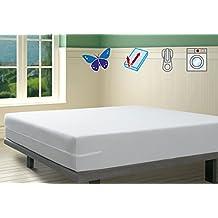 Savel, Funda colchón Rizo Microfibra, elástica y ajustable, 90x190/200 (para camas de 90)