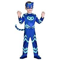 Un travestimento da Gattoboy per bambino in licenza ufficiale Superpigiamini si compone di una tuta con coda ed una maschera. La tuta é di colore blu scuro con dettagli in blu chiaro, come anche il simbolo del gatto sul petto. Il costume é di...
