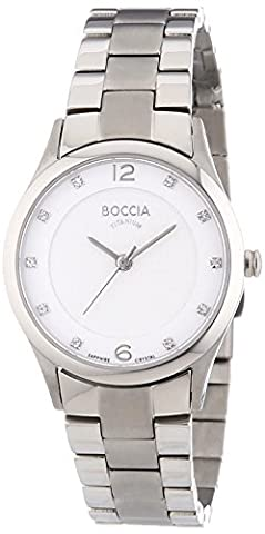 Boccia Women's Quartz Watch with White Dial Analogue Display and
