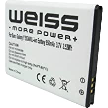 Weiss web-454357vu ricaricabile 950mAh per Samsung Galaxy Y S5360