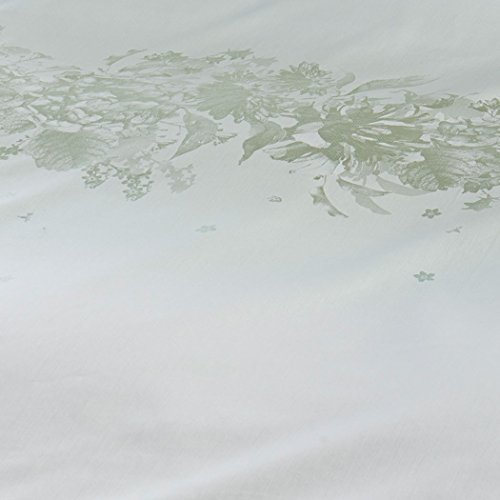 Curt Bauer Mako Brokat Damast Bettwäsche Mary Größe 140×200+70×90 cm Farbe 0131 Efeu