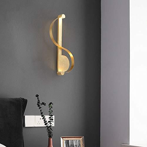 Yikuo Nordic LED Wandlampe/Amerikanisches Kupfer/Schlafzimmer/Nachttischlampe/Moderne Minimalistische/Wohnzimmer/Bad/Spiegel Scheinwerfer / 38 * 18cm / LED Lichtquelle Elegant und schön - Wand-lampen-schnur-abdeckungen