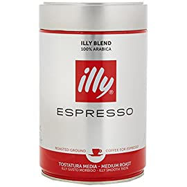 illy Classico Medium Roast Ground Coffee, 250g (Pack of 2)
