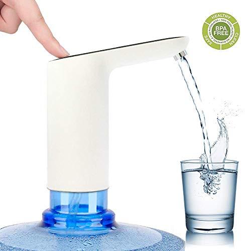 Wasserkrug Pumpe, elektrische Wasserflaschenpumpe, USB-Ladeautomatik Trinkwasser Pumpe für Universal 2-5 Liter Flasche, tragbarer Wasserspender