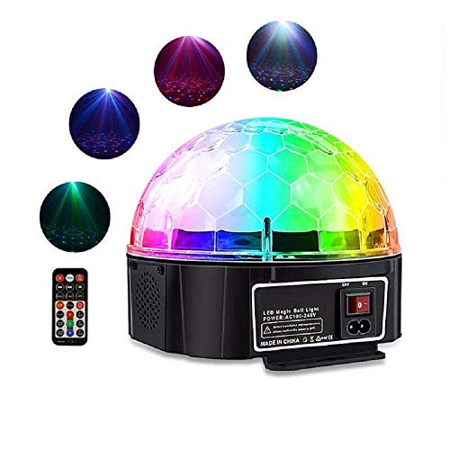 WENL Magic Ball Projektion Star Light Lichter Sound aktiviert Disco Ball LED Strobe Light, RBG Disco Lichter, Tanzlichter, Portable für Home Room Geburtstag DJ Bar Karaok Club Pub Auto Party