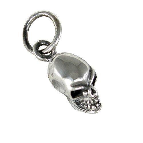 Calavera pequeño colgante de plata 925