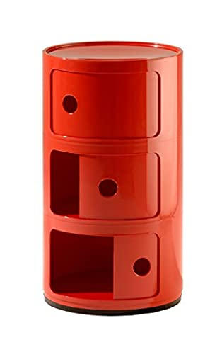 Kartell Componibili Three Elements Red