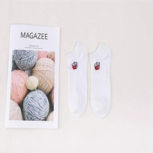WZIH Frauen-Socken-Socken für Frauen-Baumwollelastischer Stapel der Socken halten warme Breathable Spitze-Retro Socken weiblich,Coke