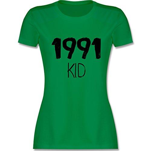Geburtstag - 1991 KID - tailliertes Premium T-Shirt mit Rundhalsausschnitt für Damen Grün