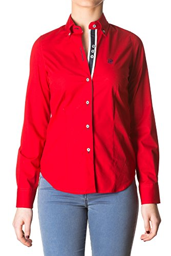 di-prego-camicia-rosse-di-manica-lunga-polsini-blue-marino-reversibile-con-pulsanti-per-regolare-la-