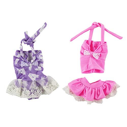 uppen Kleidung einteiliger Badeanzug Badebekleidung Sommer Outfit für 145 Zoll Mädchen Puppe ()