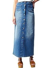 00dbb8bf6dbb14 Suchergebnis auf Amazon.de für: jeansrock lang - Bleistift / Röcke ...