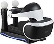 KNOSSOS Charger Charging Dock Station Stand Cradle for Sony PS4-VR Game Controller - Black