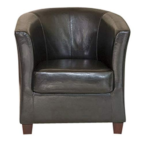 Sofa Collection Caceres Faux Leather Tub Chair/Armchair Seating (Black), 72x71x78 cm