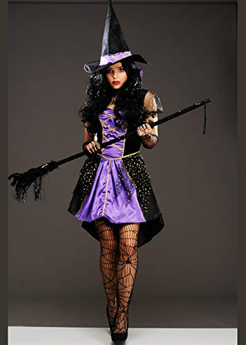 Magic Box Int. Womens Halloween Purple Vixen Hexe Kostüm M/L (UK 12-14) (Halloween Hexe Kostüme Uk)