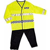 Girls Boys Dress Up Policeman Costume Childrens Kids Party Outfit Fancy Dress