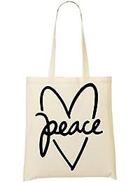 Peace Heart Bolso De Mano Bolsa De La Compra
