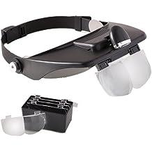 Perfect Beauty Max Lenses - Diadema óptica con luz y lentes de aumento
