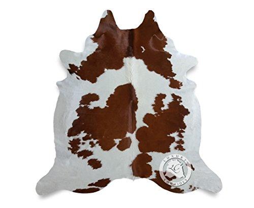 Teppich aus Kuhfell, Farbe: Braun und Weiß, Größe circa 150 x 210 cm, Premium - Qualität von Pieles del Sol aus Spanien