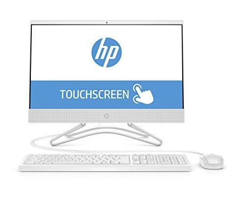 "HP 22-c0027ns - All in One - Ordenador de sobremesa 21.5"" FullHD Táctil (Intel Celeron J4005, 4GB RAM, 256GB SSD, Intel Graphics, sin sistema operativo), blanco - teclado QWERTY Español y ratón"