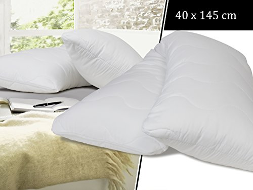 Seitenschläferkissen - für entspannenden Schlaf in Seitenlage - Einheitsgröße ca. 40 x 145 cm - formstabil gesteppt - prall gefüllt und superweich, 40 x 145 cm (Füllgewicht: 1200 g)