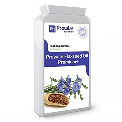Prowise Flaxseed Oil 1000mg 90 Capsules - Joint Pain Relief, Healthy skin, Healthy gums, Healthy gums, Healthy bones, Cardiovascular Health, Healthy Nervous System, Mood balance by PROWISE HEALTHCARE