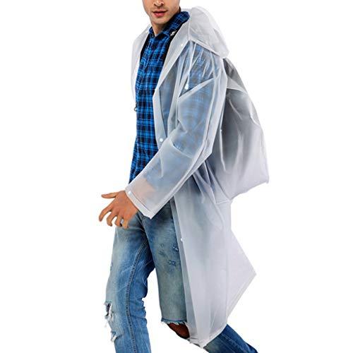 BHYDRY Herren und Damen modische Plain umweltfreundliche Rucksack Regenmantel