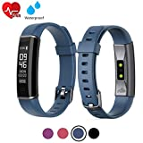 acti Y-Fit Band Activity Fitness Tracker OLED Screen with Heart Rate, Step & Sleep Tracker, IP67 Waterproof, Pedometer Sports Watch for Men, Women, and Kids (Navy Blue)