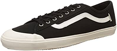 Vans Men's Happy Daze Black and Marshmallow Canvas Sneakers - 10 UK