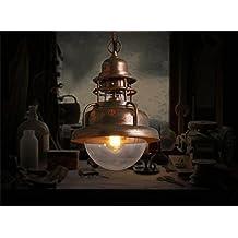 iluminación romántica industrias creativas americanos estilo de una sola cabeza tapa jaula de araña