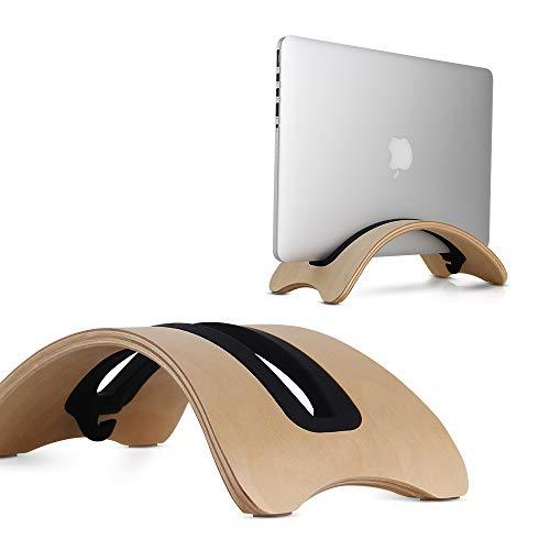 BELK Ständer für verschiedene Laptops; BookArc aus Holz der zweiten Generation für MacBook Pro/Retina/Air, tragbarer Laptop-Ständer mit einer Aussparung passend für verschiedene Notebooks wie Lenovo Yoga, Y50, ThinkPad, Dell-Laptop XPS, Venue, Inspiron und ASUS-Laptops (Original) - Macbook Pro Holz-tastatur 15