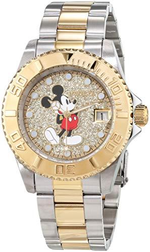Invicta 27382 Disney Limited Edition Mickey Mouse Damen Uhr Edelstahl Quarz goldenen Zifferblat
