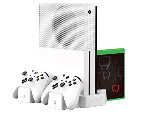 Venom Xbox One S Vertical Charging Stand and Rechargeable Battery Twin Pack - White - Xbox One [Edizione: Regno Unito]