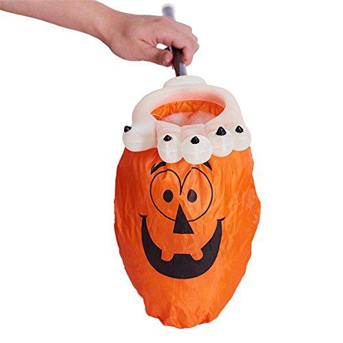 gs Kids Candy Bag Kinder Tasche Für Geschenke Verschiedene Größen Und Muster Halloween (Im Dunkeln Leuchten Die Kürbisse)